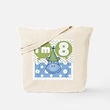 Hippo 8th Birthday Tote Bag