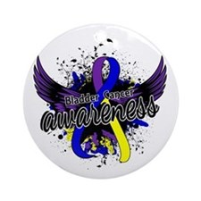 Bladder Cancer Awareness 16 Ornament (Round)