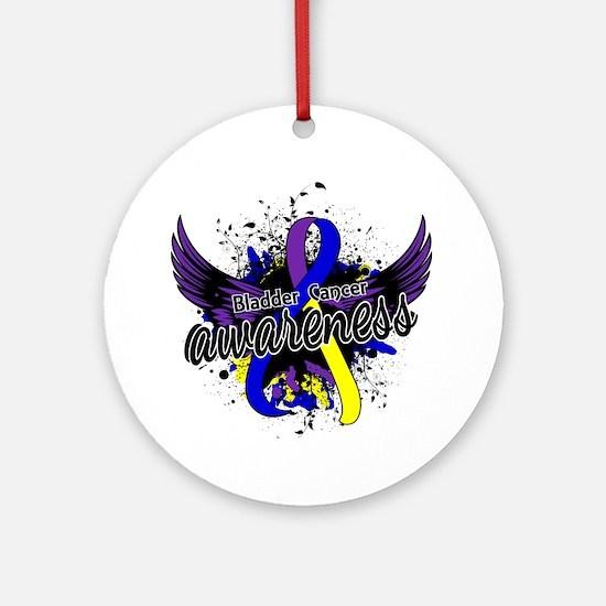 Bladder Cancer Awareness 16 Ornament (Round)