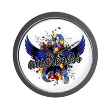 Autism Awareness 16 Wall Clock
