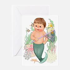 Little Merboy Greeting Card