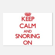 Keep Calm and Snoring ON Postcards (Package of 8)