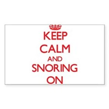 Keep Calm and Snoring ON Decal