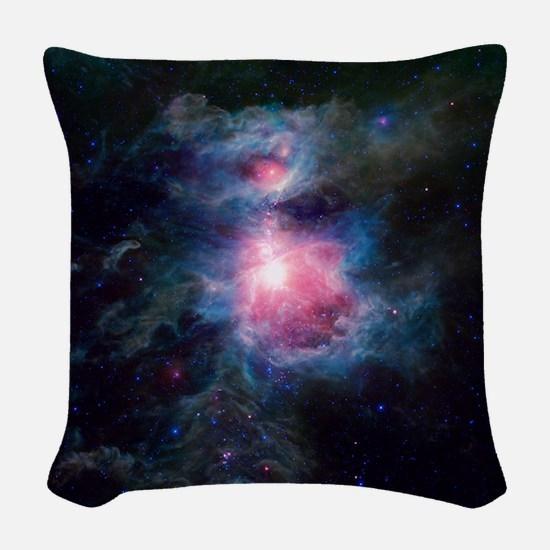 Orion Nebula Woven Throw Pillow