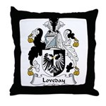 Loveday Family Crest Throw Pillow