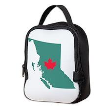 British Columbia Canada Province Map Neoprene Lunc
