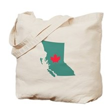 British Columbia Canada Province Map Tote Bag