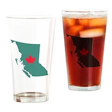 British Columbia Canada Province Map Drinking Glas