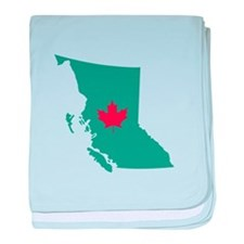British Columbia Canada Province Map baby blanket