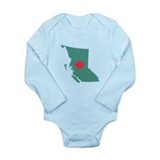 British Columbia Canada Province Map Body Suit