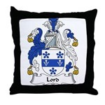Lord Family Crest Throw Pillow