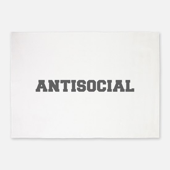 Antisocial-Fre gray 600 5'x7'Area Rug