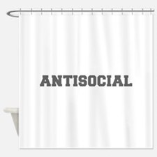Antisocial-Fre gray 600 Shower Curtain
