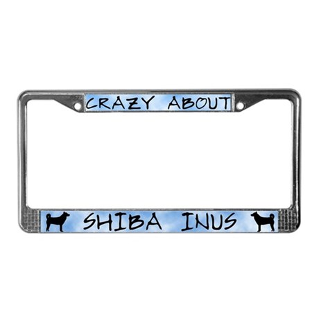 Crazy About Shiba Inus License Plate Frame