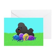 Poodle Easter Greeting Cards (Pk of 20)