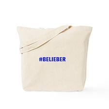 Belieber-Akz blue 500 Tote Bag