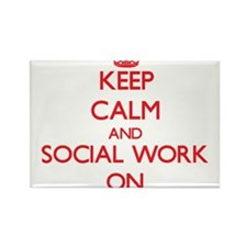 Keep Calm and Social Work ON Magnets