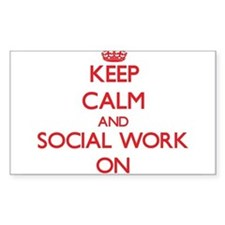 Keep Calm and Social Work ON Decal