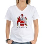 Longfellow Family Crest Women's V-Neck T-Shirt