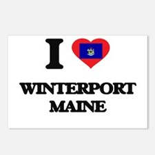 I love Winterport Maine Postcards (Package of 8)