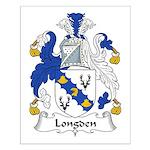 Longden Family Crest Small Poster