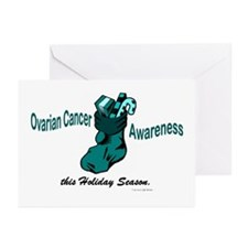 Teal Stocking 3 (OC) Greeting Cards (Pk of 20)