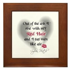 Sylvia Plath Quote Framed Tile