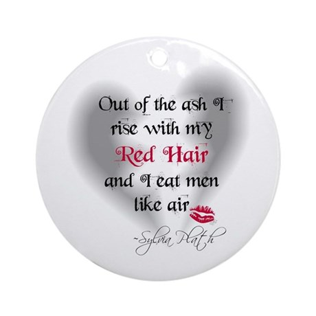 Sylvia Plath Quote Ornament (Round)
