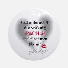 Sylvia Plath Quote Ornament (Round)