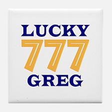 Lucky Greg Tile Coaster