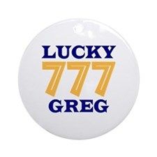 Lucky Greg Ornament (Round)