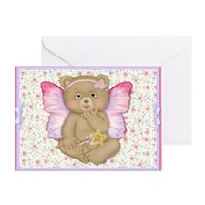 Blowing Kisses Fairy Bear Greeting Card