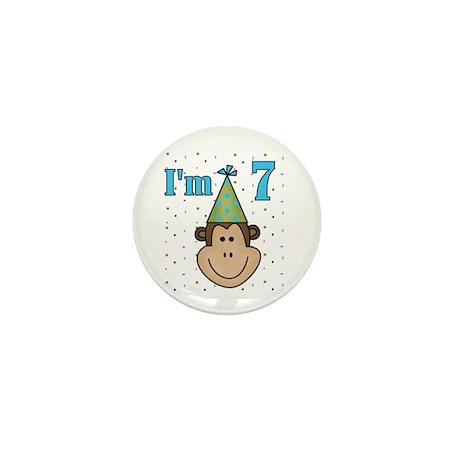 Monkey 7th Birthday Mini Button