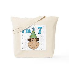 Monkey 7th Birthday Tote Bag