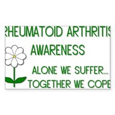 Rheumatoid Arthritis Awarenes Sticker (Rectangular