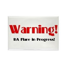 Warning! Rectangle Magnet