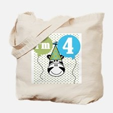 Zebra 4th Birthday Tote Bag