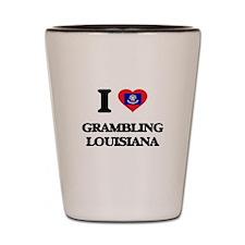 I love Grambling Louisiana Shot Glass