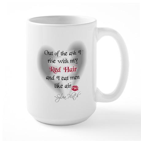 Sylvia Plath Quote Large Mug