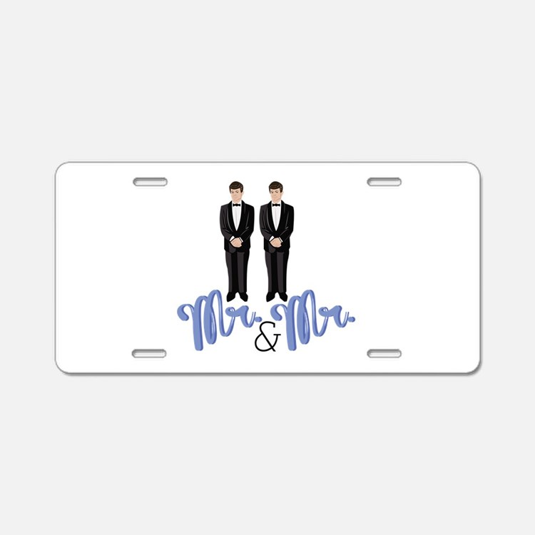 Mr.& Mr. Aluminum License Plate
