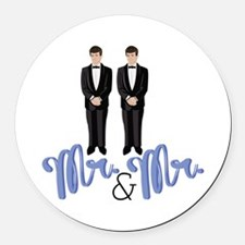 Mr.& Mr. Round Car Magnet