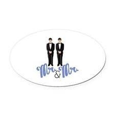 Mr.& Mr. Oval Car Magnet