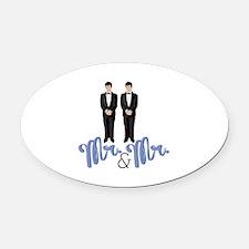 Mr.& Mr. Oval Car Magnet