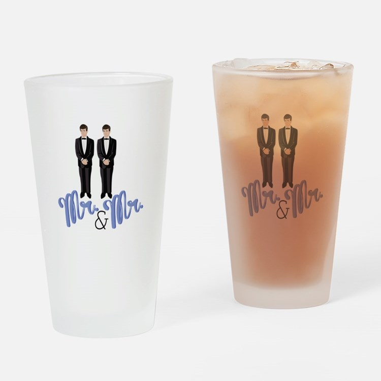 Mr.& Mr. Drinking Glass