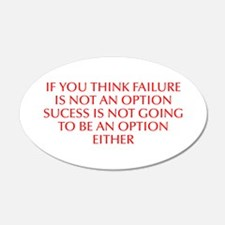 If you think failure is not an option sucess is no
