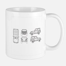 Jeep JK Wrangler Multi View Mugs