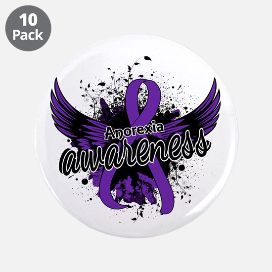 "Anorexia Awareness 16 3.5"" Button (10 pack)"