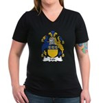 Lisle Family Crest Women's V-Neck Dark T-Shirt