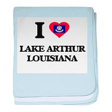 I love Lake Arthur Louisiana baby blanket