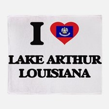 I love Lake Arthur Louisiana Throw Blanket
